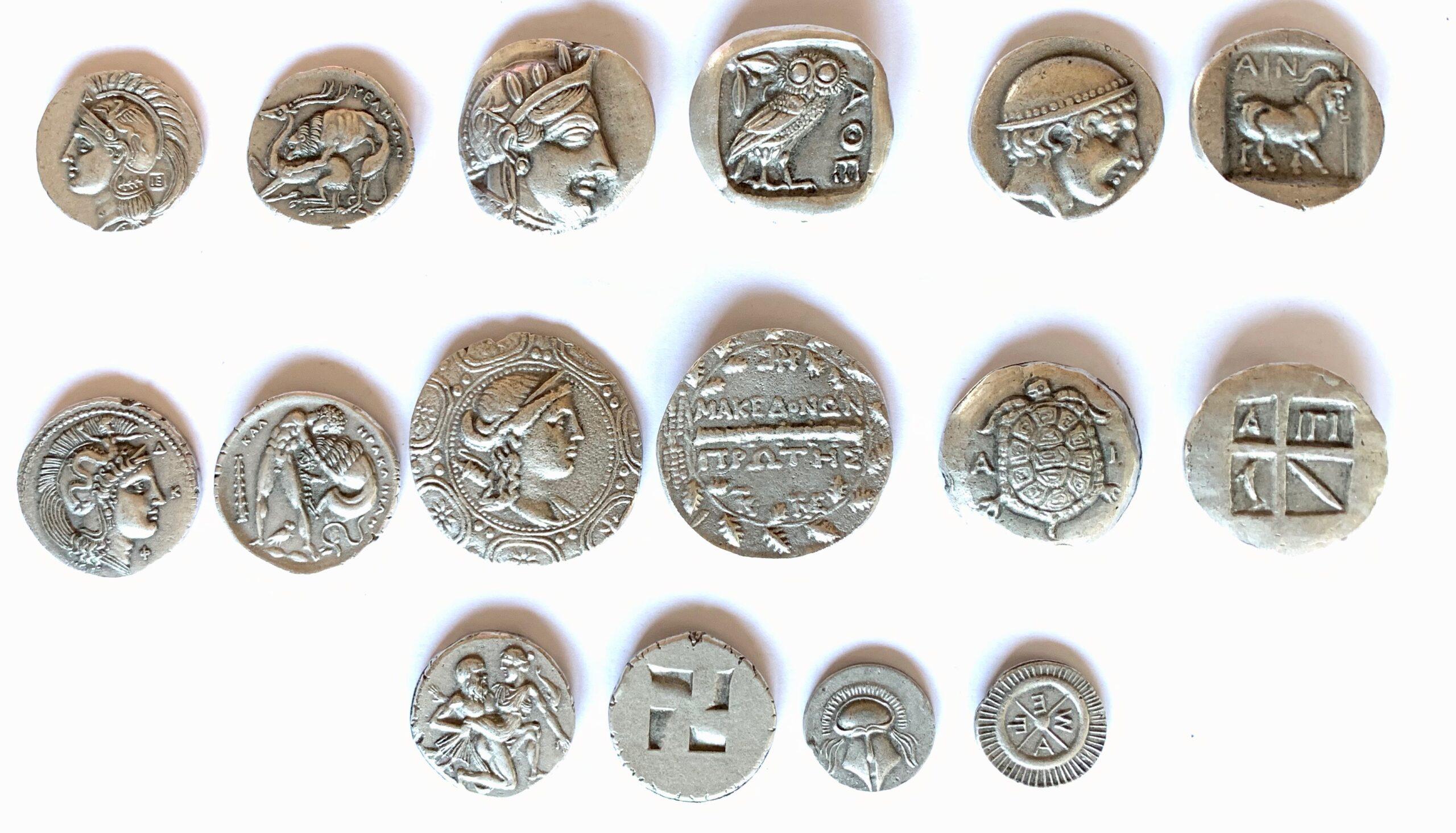 Monedas Griegas.
