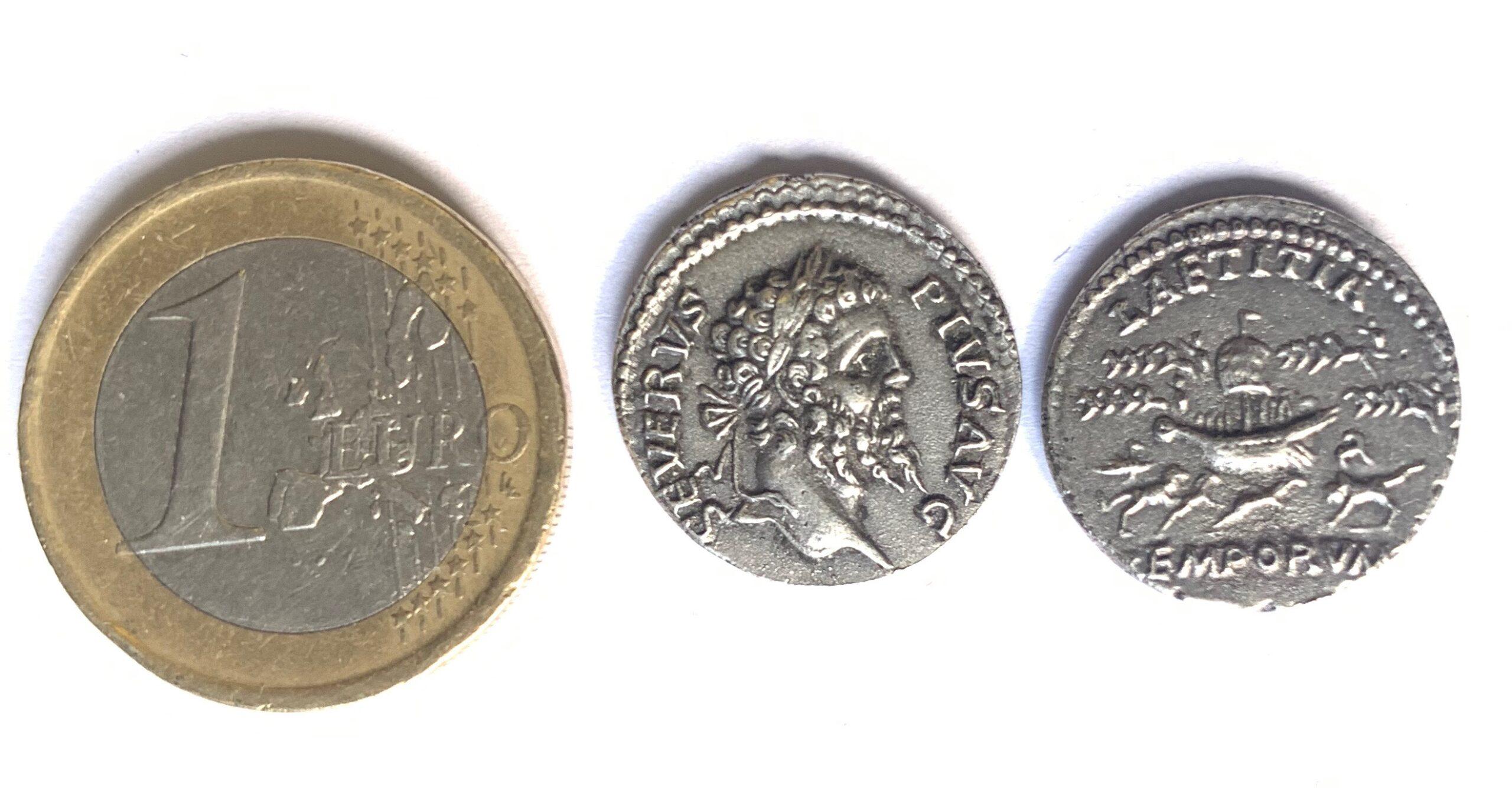 Denario Septimio Severo y Laetitia.
