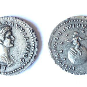 Denario de Domitia Longina.