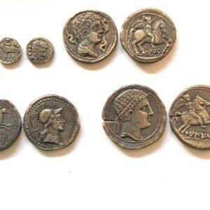 Lote de 4 monedas ibéricas catalanas.